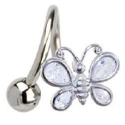 Piercing spirale 32 - Papillon b