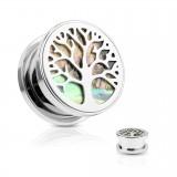 Plug acier arbre de vie abalone