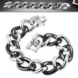 Bracelet céramique 12 - Chaines acier et noir