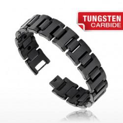 Bracelet en tungstène 02 - Large couleur noir