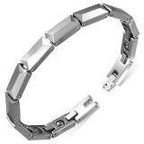 Bracelet en tungstène 11 - Fin argenté