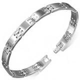 Bracelet en tungstène 12 - Fin argenté