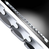 Bracelet en tungstène 18 - Fin argenté