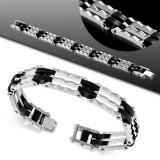 Bracelet en acier 13 - Noit et gris