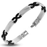 Bracelet en acier 17 - Jonctions noires