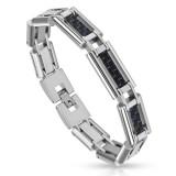 Bracelet en acier 35 - Fibre de carbone