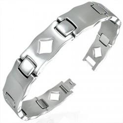 Bracelet en acier 50 - Losange creux