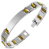 Bracelet en acier 45 - Cylindres gold-ip