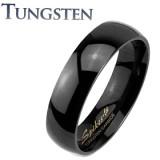Bague en tungstène 30 - Noire simple fine