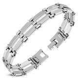 Bracelet en acier 51 - Deux lignes grises