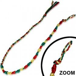Bracelet de l'amitié 02 - Vert, jaune et rouge