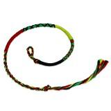 Bracelet de l'amitié 05 - Vert, jaune et rouge