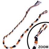 Bracelet de l'amitié 08 - Orange, blanc et noir