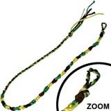 Bracelet de l'amitié 15 - Vert, jaune et noir