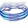 Bracelet de l'amitié 19 - Bleu et lilas