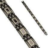 Bracelet en acier 71 - Black-line lignes Grecques