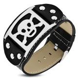 Bracelet vinyle 01 - Tête de mort