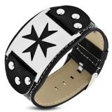Bracelet vinyle 07 - Croix de malte