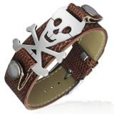 Bracelet vinyle 11 - Tête de mort