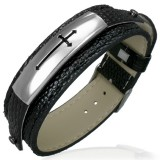 Bracelet vinyle 12 - Croix