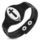 Bracelet vinyle 14 - Croix