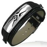 Bracelet vinyle 17 - Motif tribal