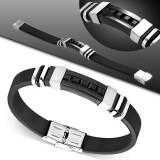 Bracelet prestige 04 - Caoutchouc et acier
