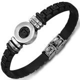 Bracelet prestige 18 - Caoutchouc et acier rond deluxe