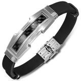 Bracelet prestige 32 - Caoutchouc et acier fibre de carbone