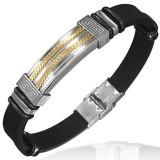 Bracelet prestige 39 - Caoutchouc et acier