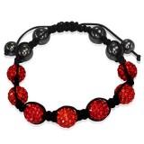 Bracelet shamballa 02 - Férido 7 perles rouges