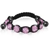 Bracelet shamballa 03 - Férido 7 perles roses