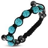 Bracelet shamballa 07 - Férido 7 perles turquoises