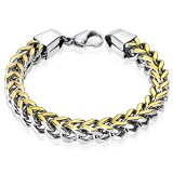 Bracelet acier chaine 06 - Gold-IP et acier