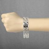 Bracelet acier chaine 08 - Double acier