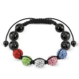 Bracelet shamballa 12 - Férido 5 perles multicolores