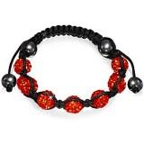 Bracelet shamballa 15 - Férido 7 perles rouges