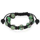 Bracelet shamballa 17 - Fimo vert