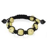 Bracelet shamballa 18 - Fimo jaune