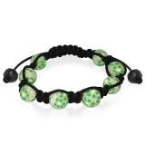 Bracelet shamballa 20 - Fimo vert