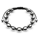 Bracelet shamballa 23 - Perles argentées