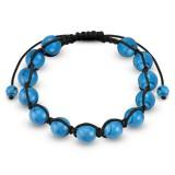 Bracelet shamballa 26 - Turquoise