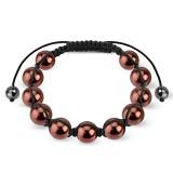 Bracelet shamballa 32 - Imitation perle pétrole