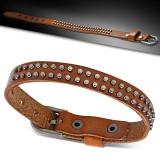 Bracelet de force 11 - Marron avec petits ronds