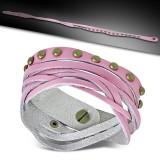 Bracelet de force 59 - Plusieurs tours roses