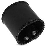 Bracelet de force 64 - Noir bords tressés