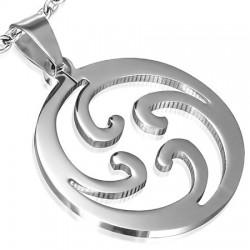 Pendentif tribal 09 - Spirales dans cercle