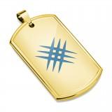 Pendentif plaque 13 - Gold-ip avec griffures