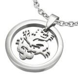 Pendentif animal 05 - Dragon dans cercle