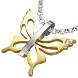 Pendentif animal 21 - Papillon gold-IP